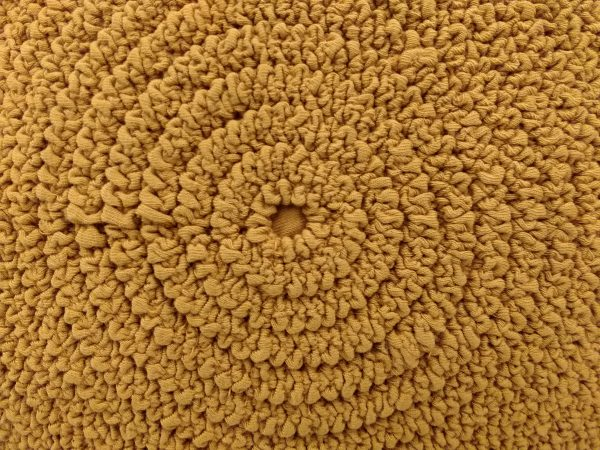 Gathered Mustard Yellow Fabric in Concentric Circles Texture - Free High Resolution Photo