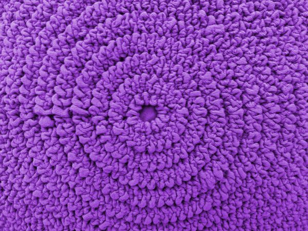 Gathered Purple Fabric in Concentric Circles Texture - Free High Resolution Photo