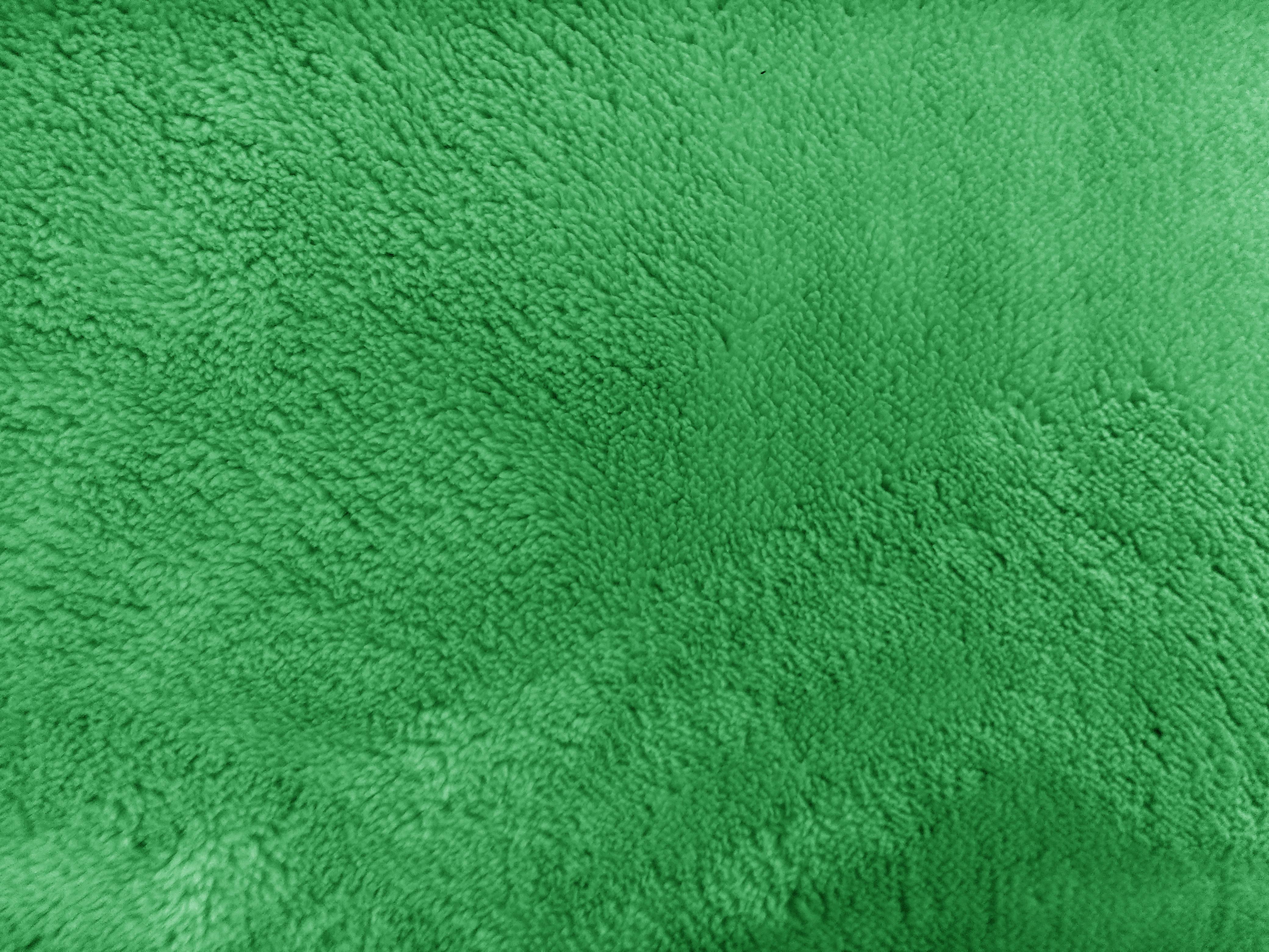 Plush Green Bathmat Texture Picture Free Photograph