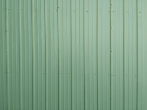 Green Ribbed Metal Siding Texture - Free High Resolution Photo