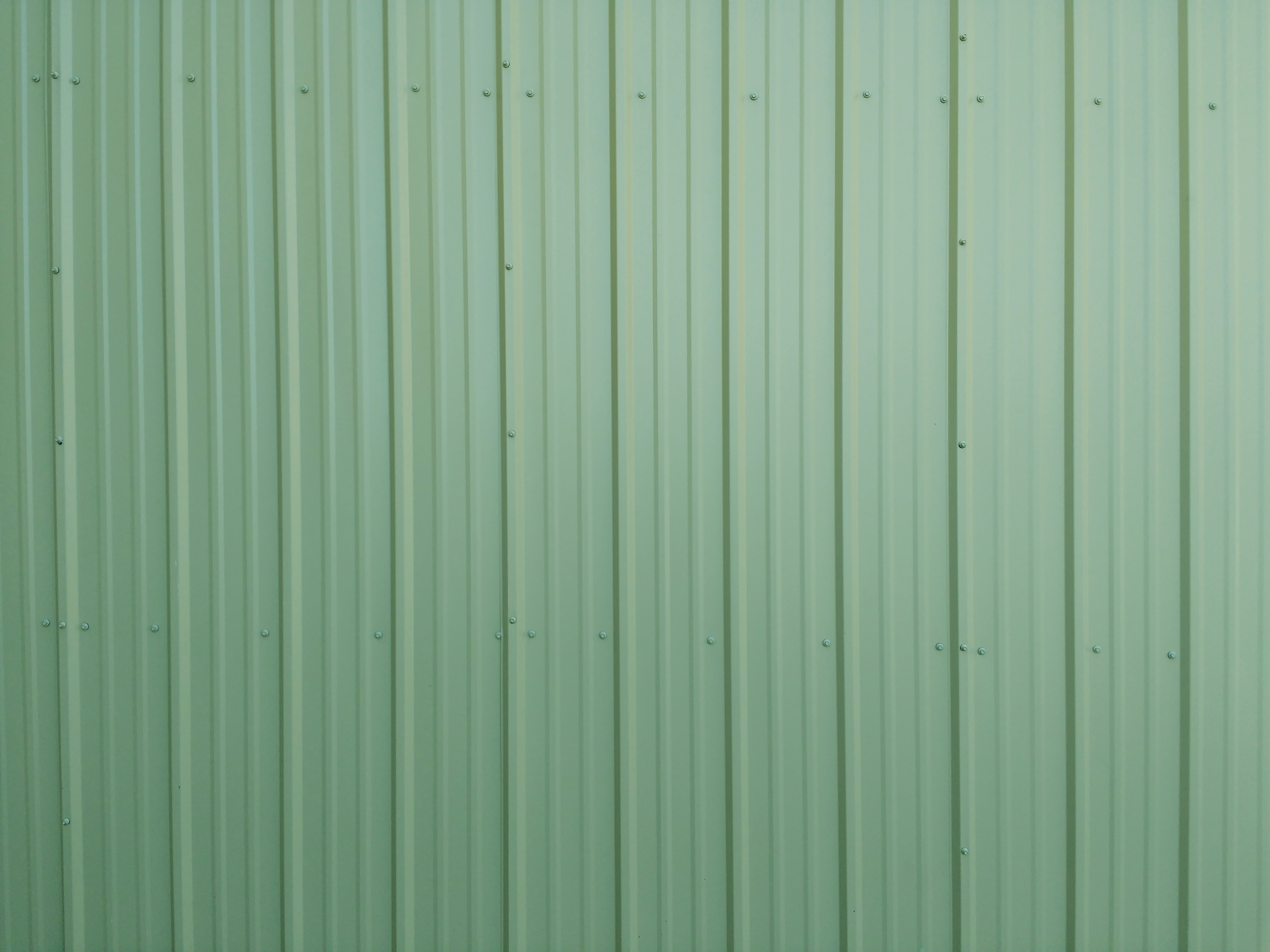 Green Ribbed Metal Siding Texture Picture Free