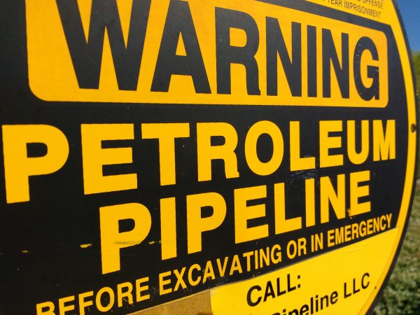 Warning Petroleum Pipeline Sign - Free High Resolution Photo