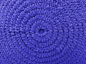 Gathered Blue Fabric in Concentric Circles Texture - Free High Resolution Photo