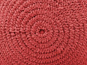 Gathered Red Fabric in Concentric Circles Texture - Free High Resolution Photo