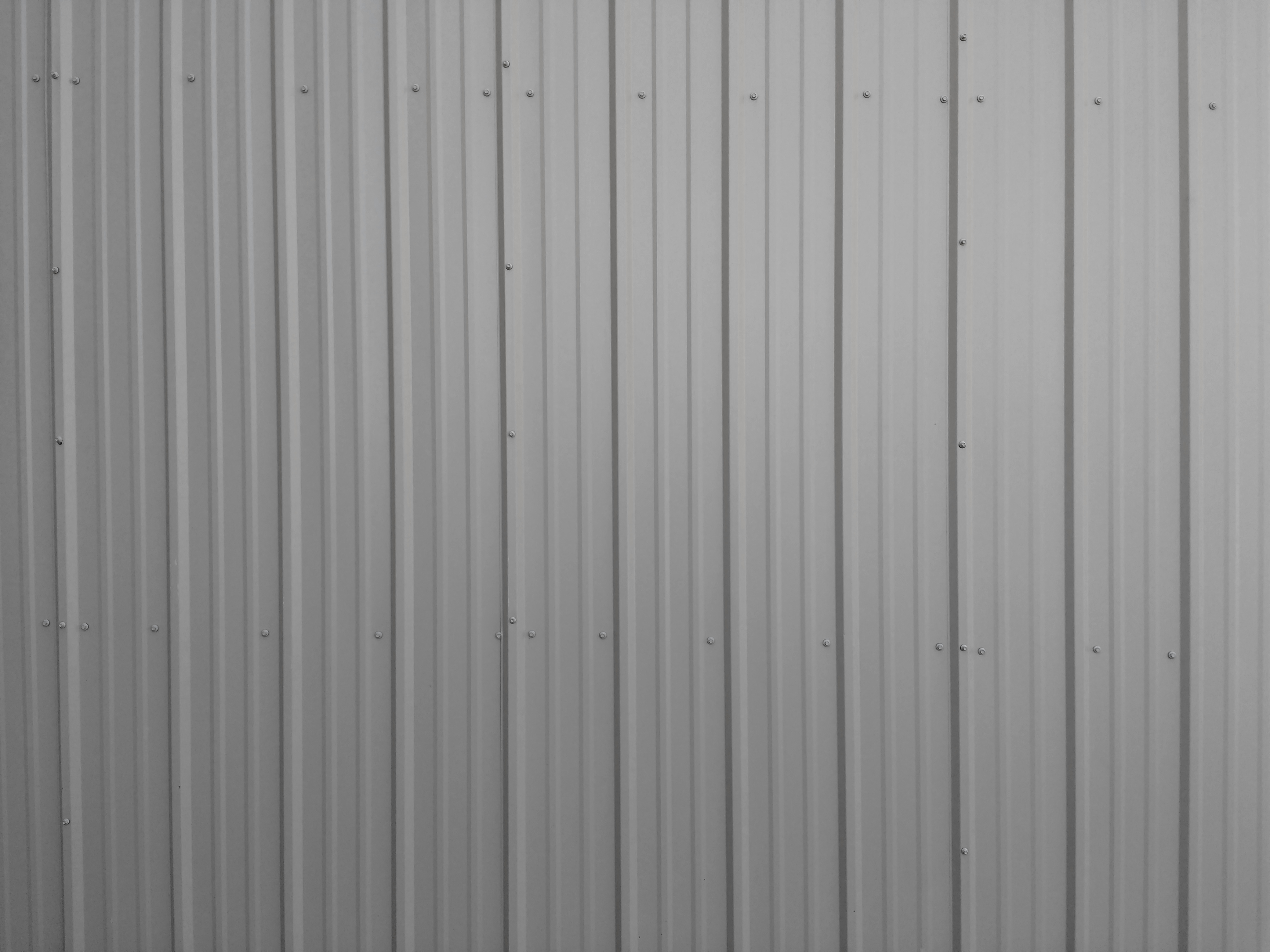 Ribbed Metal Siding Texture Gray Picture Free Photograph