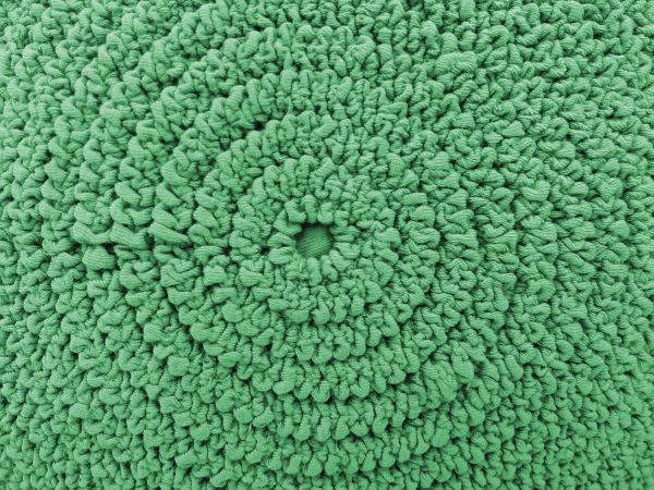 Gathered Green Fabric in Concentric Circles Texture - Free High Resolution Photo