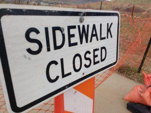 Sidewalk Closed Sign - Free High Resolution Photo