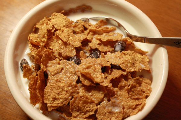 Bowl of Raisin Bran Breakfast Cereal - Free High Resolution Photo