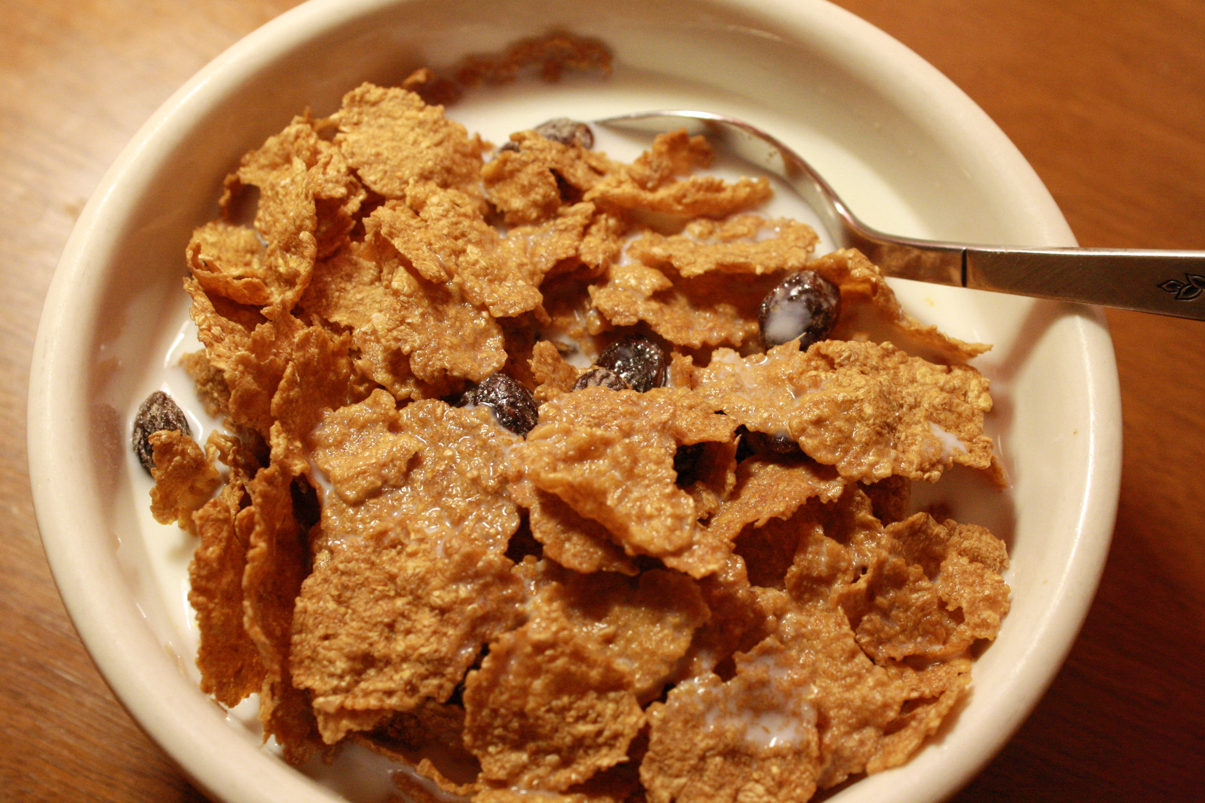 Bowl of Raisin Bran Breakfast Cereal Picture | Free ...