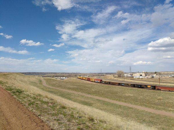 Train with Downtown Denver in the Distance - Free High Resolution Photo