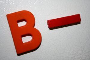 B Minus School Letter Grade - Free High Resolution Photo