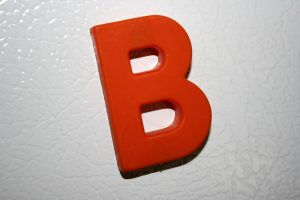 Letter B Red Refrigerator Magnet - Free High Resolution Photo