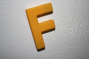 Letter F Yellow Refrigerator Magnet - Free High Resolution Photo
