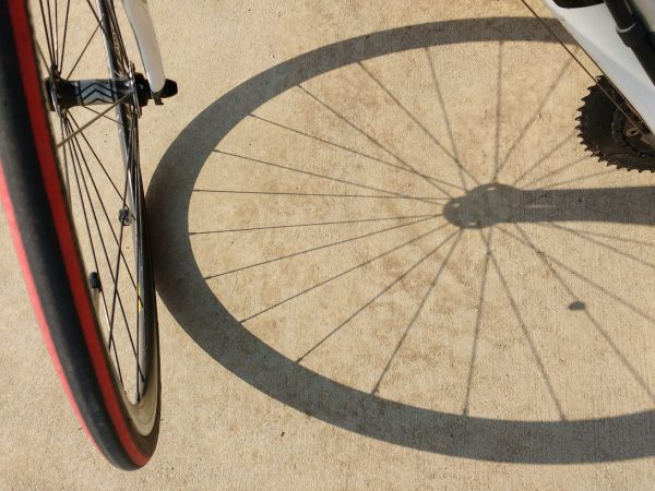Bike Wheel and Shadow - Free High Resolution Photo