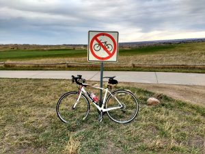 Bicycle Leaning Against No Bikes Sign - Free High Resolution Photo