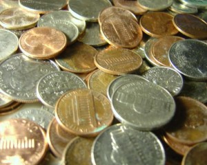 close up photo of pennies nickles and dimes