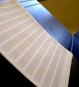photo of music paper on music stand