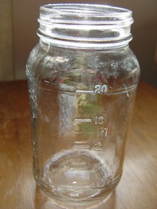 Empty Glass Mason Jar