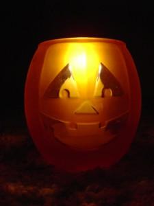 Halloween Jack-o-lantern Candle