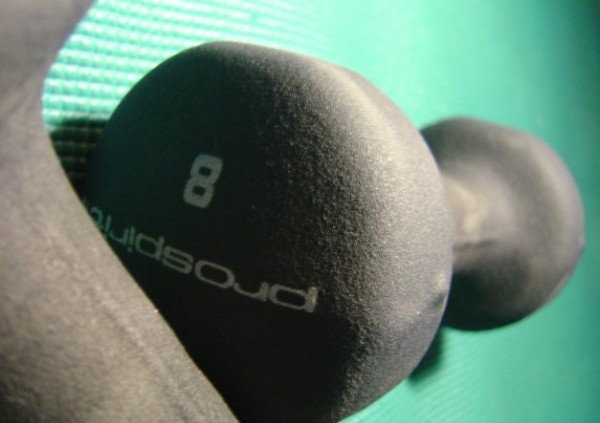 Hand Weights Close Up - photo of 8 pound hand weights