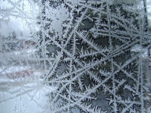 Ice Crystals on Window Pane