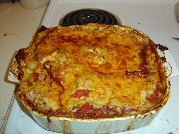 Home Made Lasagna Hot from the Oven