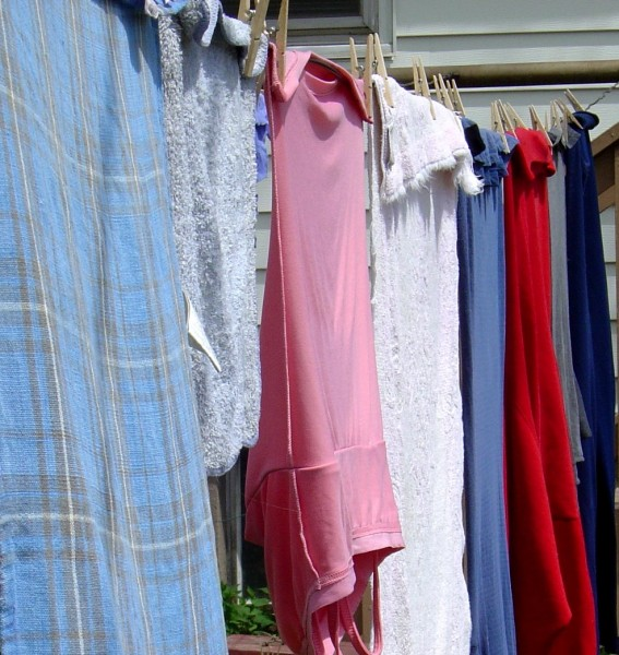 Laundry Drying on the Clothes Line