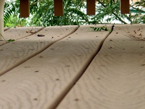 Leaves and Sticks on Deck Boards