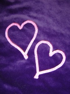 Photo of two pink hearts