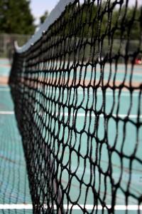 Free photograph of a tennis court net