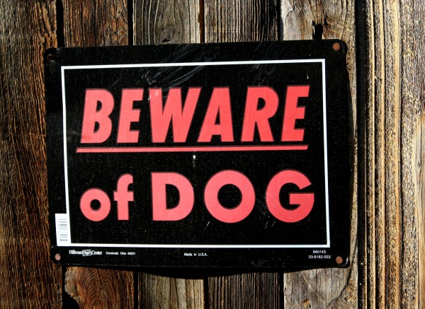 Free picture of beware of dog sign