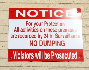 Free photo of No Dumping Sign