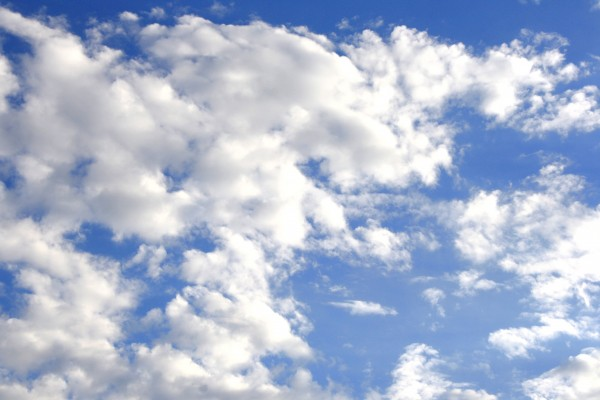 free high resolution photo of a blue sky with clouds