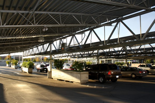 Covered parking lot - free high resolution photo