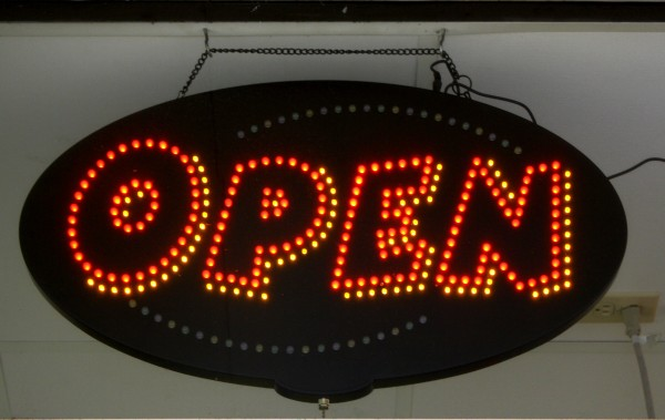 free high resolution photo of an open sign