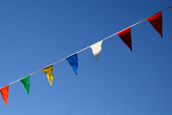 free photo of colorful pennant flags
