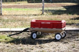 free high resolution photo of a child's red wagon