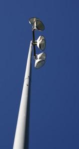 Free photo of stadium lights on a tall pole