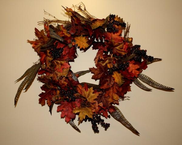 Thanksgiving autumn wreath - free high resolution photo