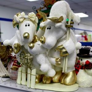 Three wise reindeer Christmas decoration - free high resolution photo