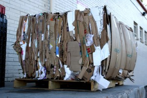 Bale of cardboard for recycling - free high resolution photo