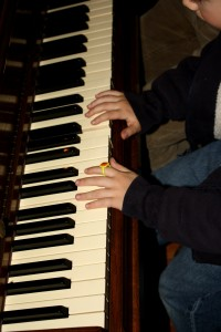 Child Playing Piano - free high resolution photo