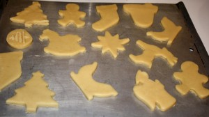 Christmas Cookies on Cookie Sheet - free high resolution photo