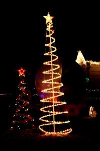 Christmas tree light decorations - free high resolution photo