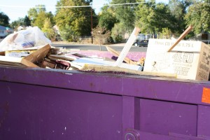 dumpster full of garbage - free high resolution photo