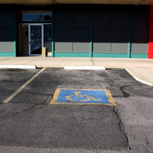 handicapped parking space - free high resolution photo