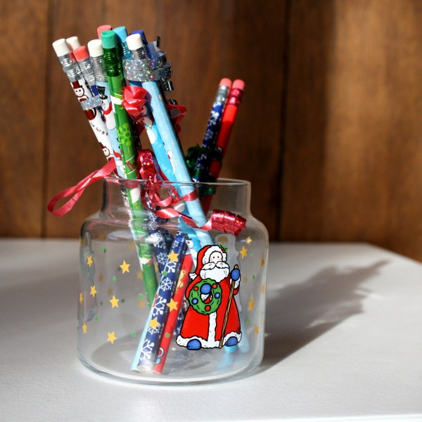 Holiday Pencils in Christmas Jar - free high resolution photo
