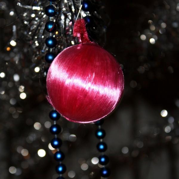 Pink Christmas Ball Ornament - free high resolution photo