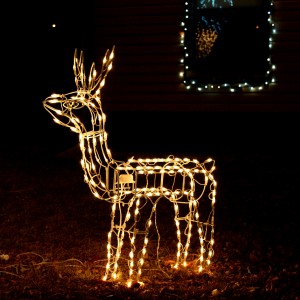 reindeer Christmas lawn ornament - free high resolution photo