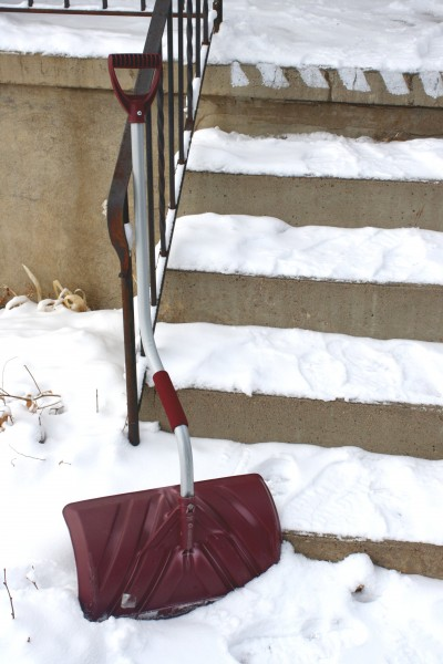 Snow Shovel and Steps - Free High Resolution Photo